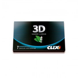 Chicle Clix 3D Hierbabuena