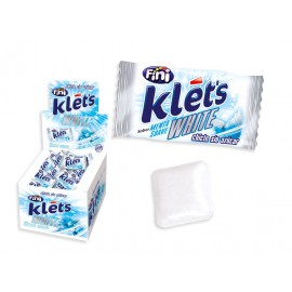 Chicle Klets White Sin Azucar